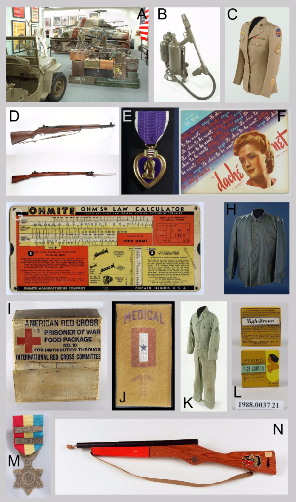 A collection of 1940s artifacts