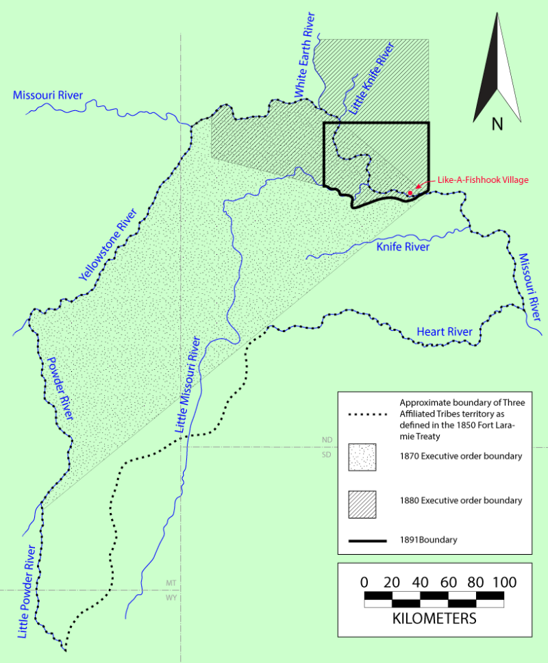 1870-1891 land cessions at Fort Berthold Reservation
