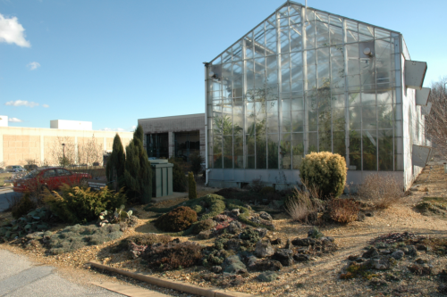 The Botany Research Greenhouses are located at Smithsonian's Museum Support Center in Suitland, Maryland. (photo by Leslie Brothers)
