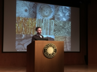 Jonathan Wilson compares the physiology of extinct plants with strategies that are currently employed by living plants to shed light on ecophysiological trajectories in plant evolutionary history. (photo by Gary Krupnick)
