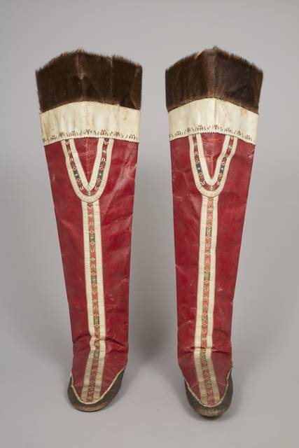 Inuit woman's boots and socks