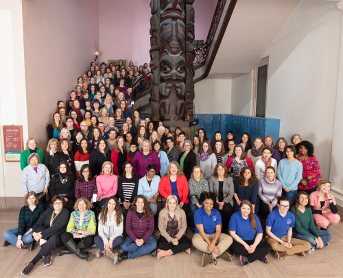 National Museum of Natural History participants honor International Women's Day. (photo by Lucia RM Martino and James Di Loreto, Smithsonian Institution)
