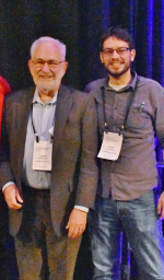 Recipients of the 2018 Richard and Minnie Windler Award in Systematics are Lytton Musselman and Peter Schafran (at the awards banquet)