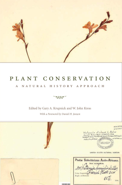 Plant Conservation – A Natural History Approach