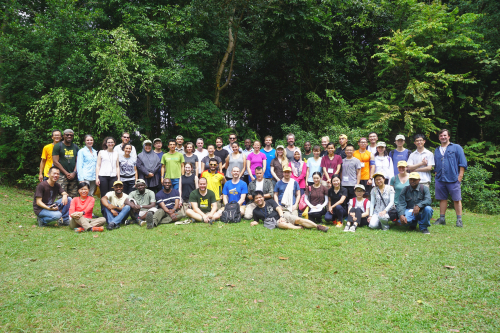 The 2019 ForestGEO Analytical Workshop participants on their field trip to Bukit Timah Forest Dynamics Plot in Singapore.