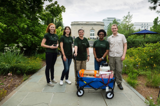 ] Kristen Michelle van Neste (second from left) with Vicki Funk (center), Morgan Gostel (far right), and fellow interns at the U.S. Botanic Garden in 2015. (photo by Hilary-Morgan Watt)