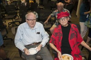Harold Robinson and Vicki Funk in October 2019. (photo by Ken Wurdack)