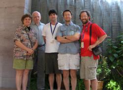 Harold Robinson with Vicki Funk, Taylor Quedensley, Mauricio Bonifacino, and Mauricio Diazgranados (photo by Smithsonian Institution)