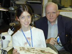 Harold Robinson with NMNH intern Abby Moore in 2003. (photo by Smithsonian Institution)
